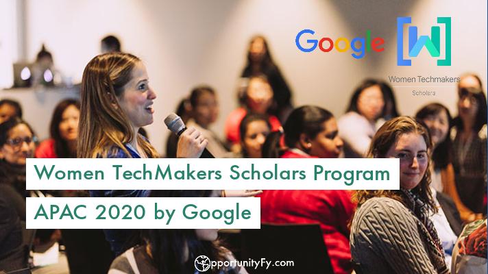 Women TechMakers Scholars Program APAC 2020 by Google
